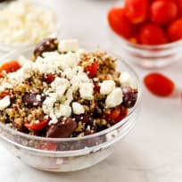 Quinoa Greek Salad with Feta and Tomatoes Recipe