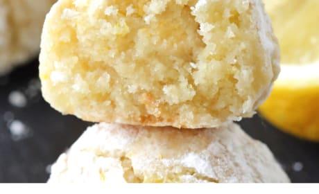 Easy Gluten Free Lemon Crinkle Cookies Recipe Photo