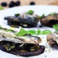 Mediterranean Sardines and Eggplants
