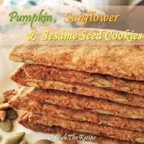 Healthy Pumpkin, Sun Flower and Sesame Seed Cookies