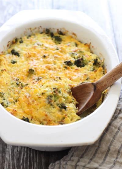 Broccoli Cheddar Spaghetti Squash Bake Picture
