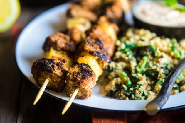 Paleo Indian Chicken Kebabs Photo