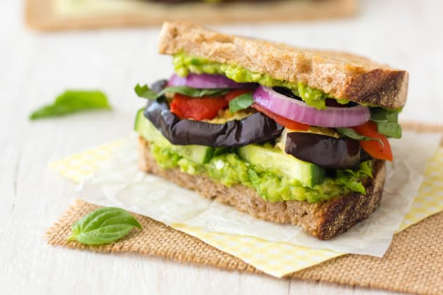 Broiled Eggplant Sandwich Photo