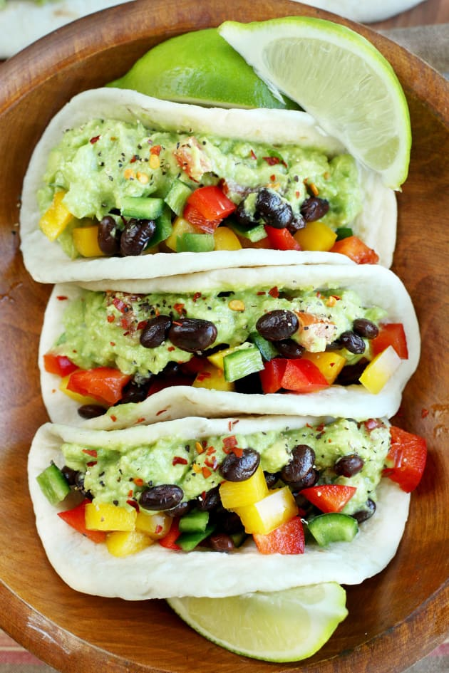 Guacamole Veggie Tacos Pic