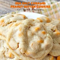 Sea Salt Caramel Peanut Butter Cookies