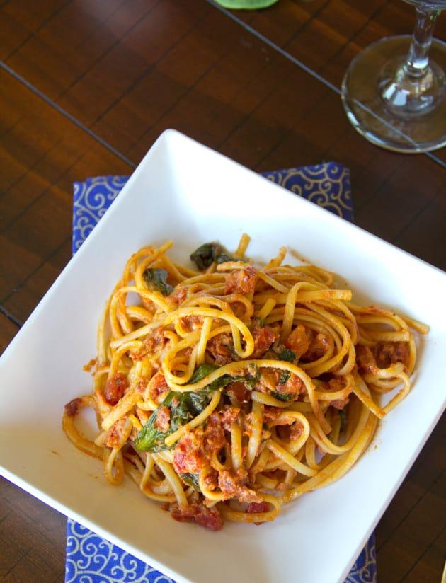 Sun Dried Tomato Pasta Picture