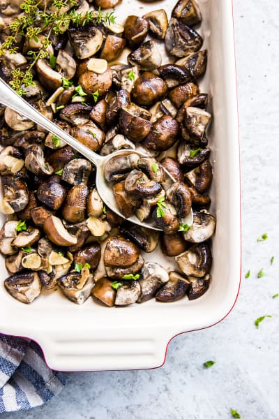 Garlic Butter Baked Mushrooms Pic
