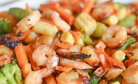 Gluten Free Air Fryer Honey Garlic Shrimp Image