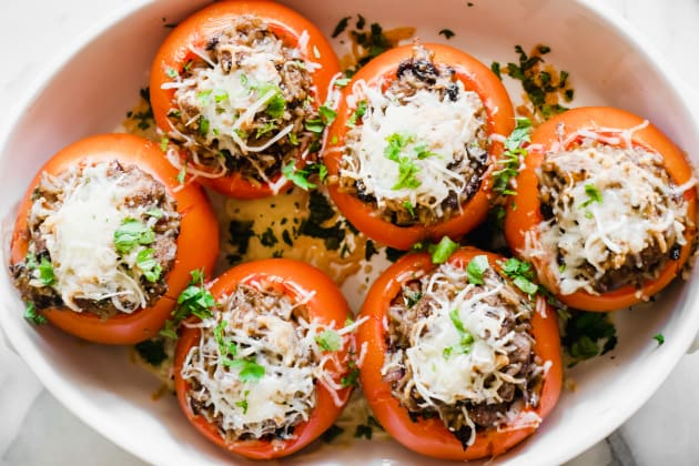 Black Beans and Rice Stuffed Tomatoes Photo