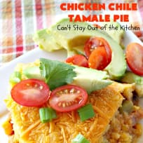 Chicken Chile Tamale Pie