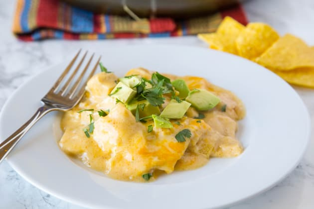 White Chicken Enchilada Skillet Food Fanatic
