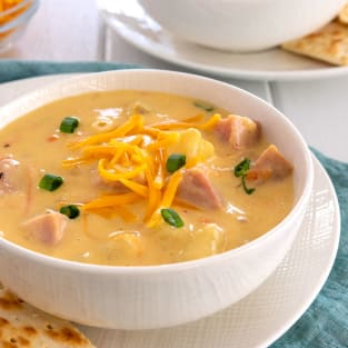 Ham and cheese soup photo