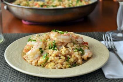 Shrimp Orzo Risotto