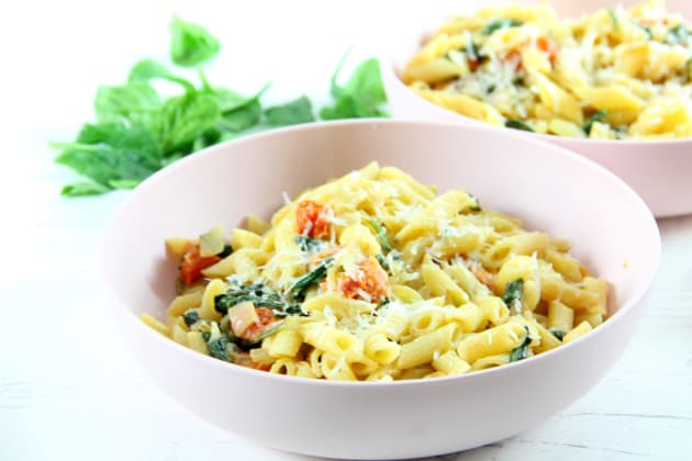 Creamy Tomato Spinach Pasta Photo