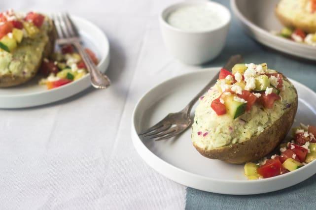 Greek Twice Baked Potatoes Recipe