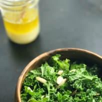 Massaged Kale with Slivered Almonds and Lemon-Garlic-Olive oil