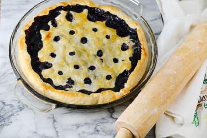 Blueberry Basil Pie