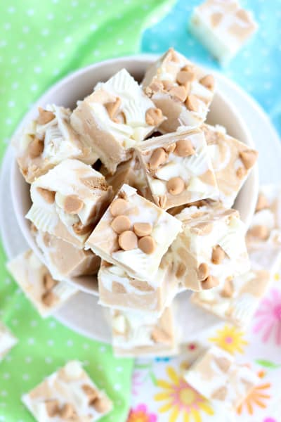 White Chocolate Peanut Butter Cup Fudge Pic