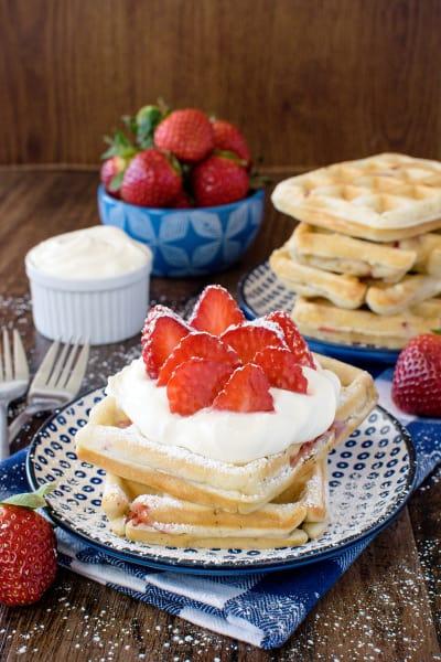Homemade Strawberry Waffles Image