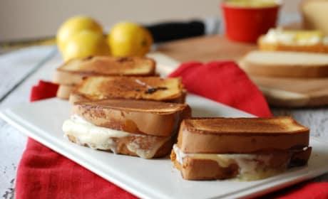 Lemon Mascarpone Grilled Cheese Recipe
