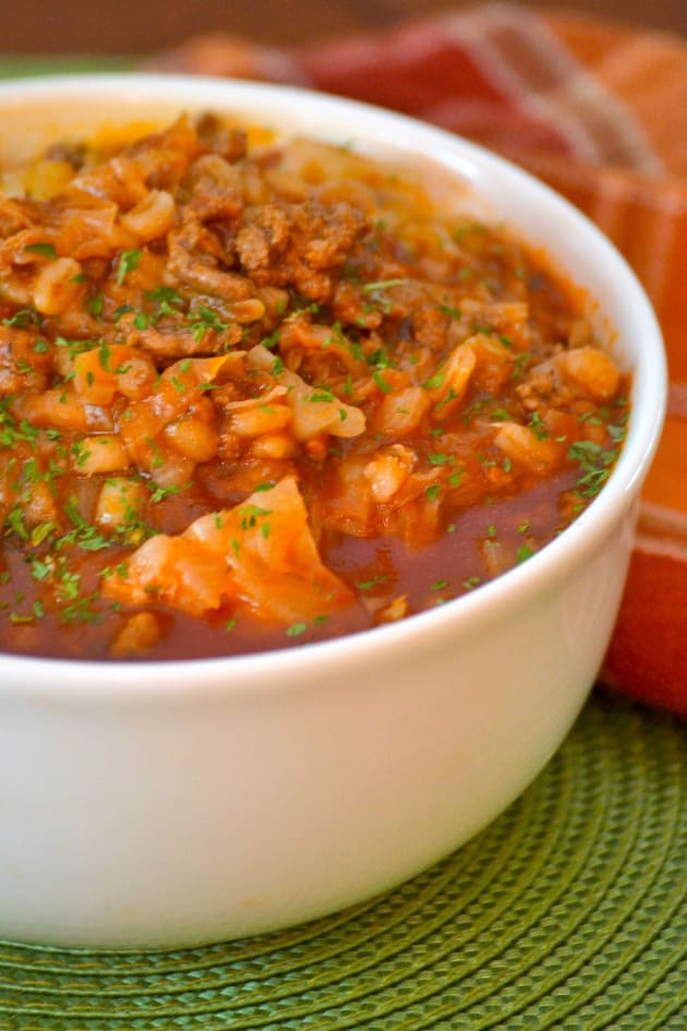 Stuffed Cabbage Soup with Barley Picture