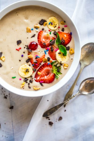 Vegan Banana Split Smoothie Bowl Image