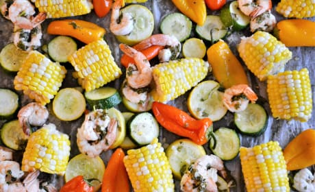 Sheet Pan Roasted Shrimp and Summer Vegetables Pic