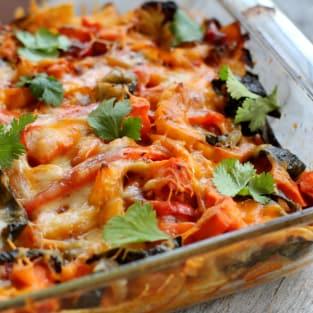 Roasted vegetable enchiladas photo