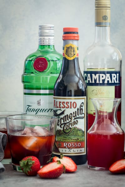 Strawberry Negroni Picture