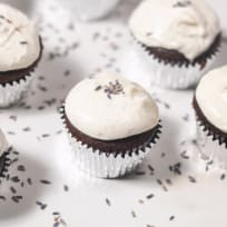 Chocolate Cupcakes with Lavender Goat Cheese Frosting Recipe