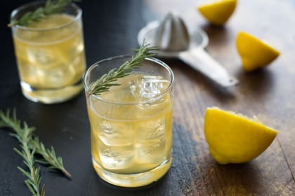 Bourbon Sour with Lemon & Rosemary