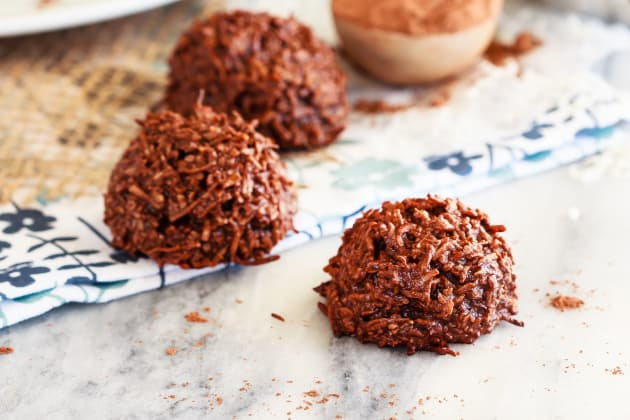 Chocolate Coconut Macaroons Photo