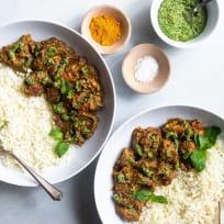 Indian Spiced Chicken with Cashew Cilantro Pesto Recipe
