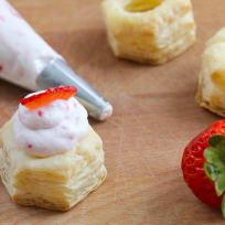 Strawberry Cream Puff Pastry Cups Recipe