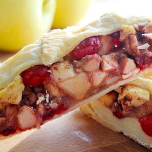 Cranberry apple strudel photo