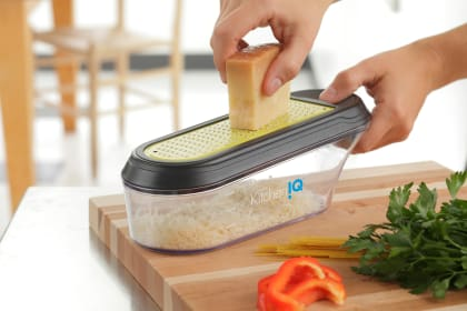 KitchenIQ V-etched Container Grater Review