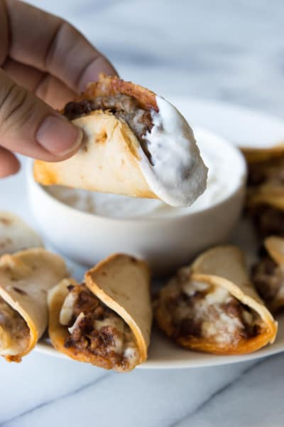 Mini Beef and Cheese Tacos Picture