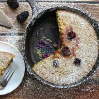 Gluten Free Skillet Blackberry Cake Recipe