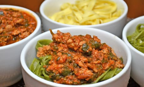 Easy Bolognese Sauce with Spinach Recipe