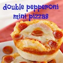 Double Pepperoni Mini Pizzas