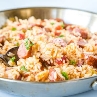 Easy sausage and rice skillet photo