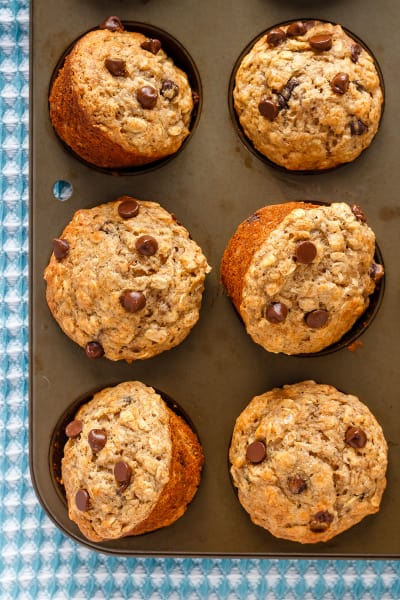 Chocolate Chip Banana Oatmeal Muffins Pic