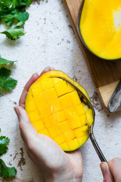 Thai Mango Avocado Salad with Grilled Sweet Potatoes Picture