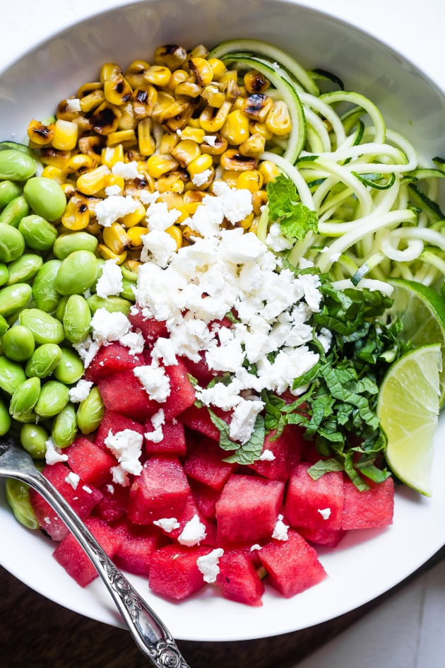 Summer Maple Lime Watermelon Zoodle Bowl Pic