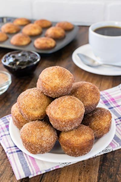 Blueberry Jelly Donut Holes Image