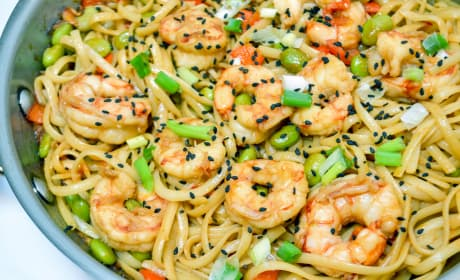 Sesame Shrimp Noodles Recipe