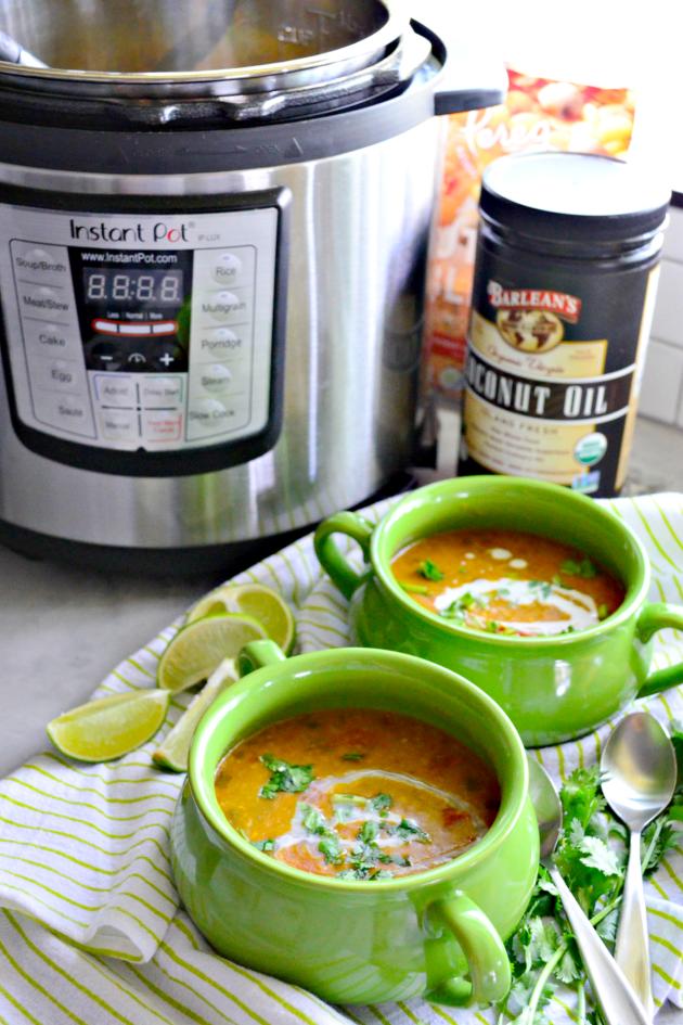 Instant Pot Coconut Curry Lentil Tomato Soup Picture