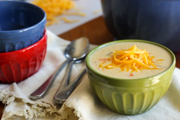 Gluten Free Cheddar Cheese Soup with Ham Photo