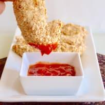 Baked Pretzel Crusted Chicken Tenders