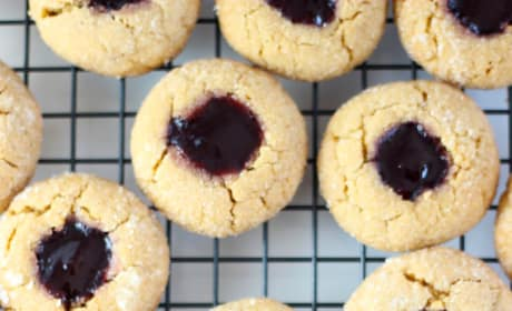 Peanut Butter & Jelly Thumbprint Cookies Pic